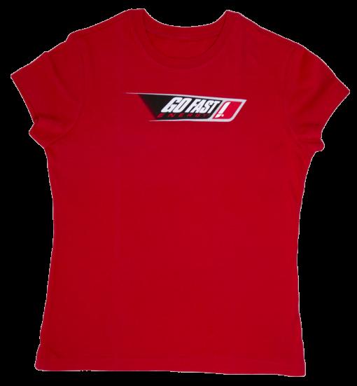 red classic women's logo tee