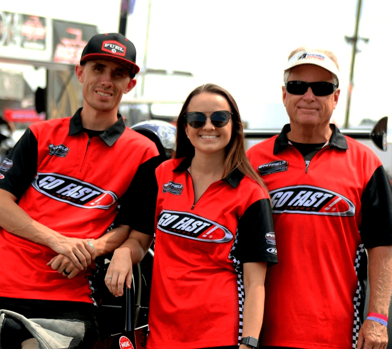 race team wearing GoFast! shirts