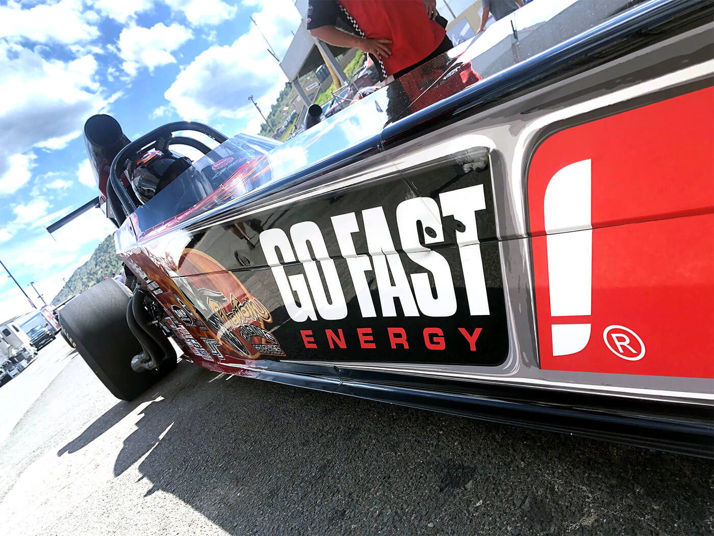 Team GoFast! race car side decal